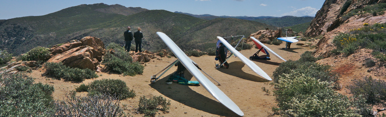 Hang Gliders in the Mountains Near Ramona